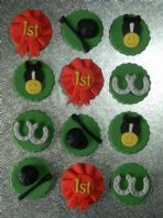 12  Equestrian Cupcake Toppers